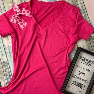 Pink Nike Dry Fit Athletic Tee Shirt